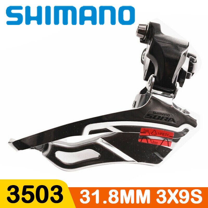 Shimano Sora 3503 Front Derailleur 3x9 Speed Clamp On 31.8mm Road Bike Bicycle