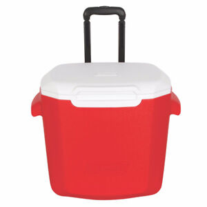 Brand new, big, Coleman cooler on wheels and handle
