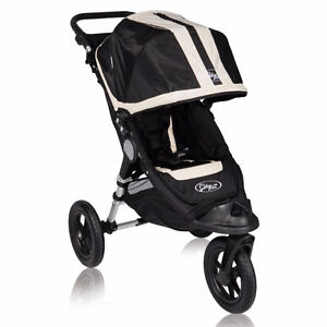 Baby Jogger City Elite - black and tan EUC