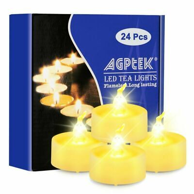 Battery Operated Tea Lights Fameless Lot 24 Led Candles Warm White with - Led Battery Tea Lights