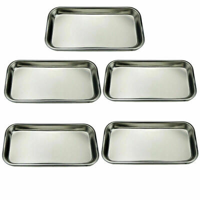 Dental 510 Pcs Stainless Steel Lab Medical Instrument Square Plate Tray 22112