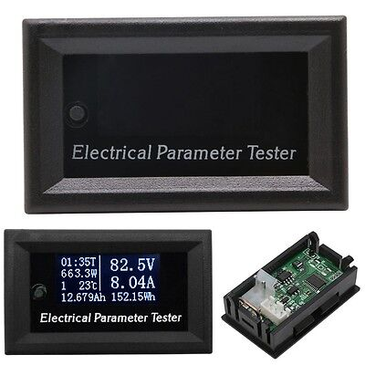 Multifunction Meter Oled 100v 10a Voltage Current Time Temperature Capacity