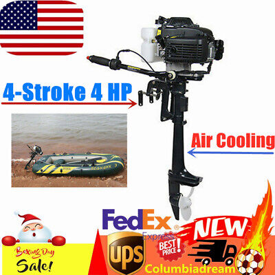4stroke Outboard Motor Fishing Rubber Boat Engine 4hp Air Cooling System Cdi Us