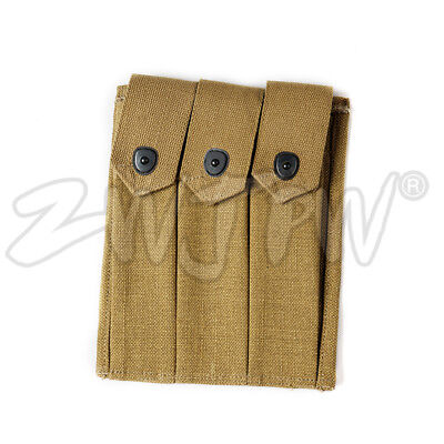 Wwii Us Amry Thompson Magazine Pouch 3 Cell 30 Rounds Mag Ammo Pouch