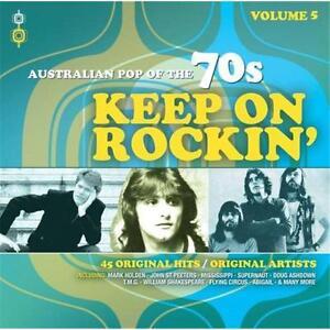 KEEP ON ROCKIN'  AUSTRALIAN POP OF THE 70s VOLUME 5 VARIOUS ARTISTS 2 CD NEW