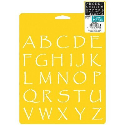 "Stencil Mania Stencil 7""X10""-Papyrus Alphabet 1.375"""