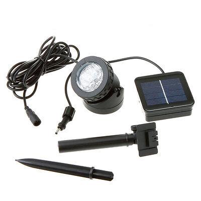 Solar Power 6 Led White Spotlight Lamp Waterproof Pool Pond Garden Path Lighting