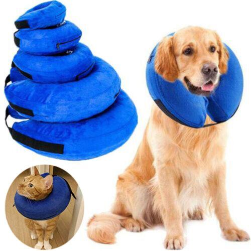 Aufblasbar Halskrause Halskragen Schutzkragen Schutz- Trichter für Hund & Katze
