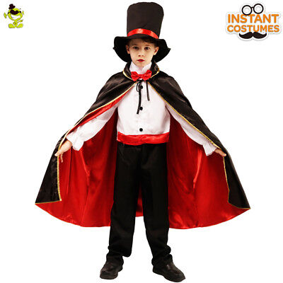 Kids Magician Vampire Prince Suit Costume with Cloak for Party Halloween - Prince Costumes For Kids