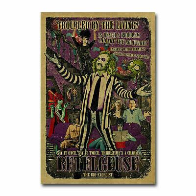H087 Hot Beetlejuice Classic Horror Movie Vintage Film Silk Art Poster Decor - Beetlejuice Decor