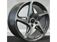 19inch River R4 (Gunmetal) alloy Wheels and Tyres. Suit Audi A3, A4 VW Golf, Jetta, Seat etc(5x112)