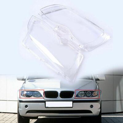 For BMW E46 325i 330i 330Xi 02-04 05 2Pcs/Set Headlight Lense Cover Replace Case