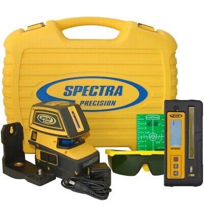 Spectra Lt52g Green Beam 5 Point Cross Line Laser Whr1220 Receiver