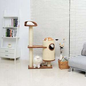 """Cat Tree 53"""" Kitty Furniture Toys Condo Tower House Scratching P"""