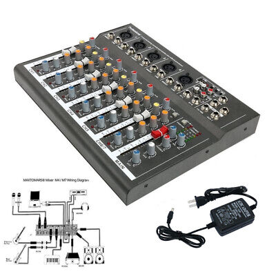 7 Channel Line Live Mixing Studio Audio Sound Mixer Console USB for DJ (Live Sound Audio Mixer)