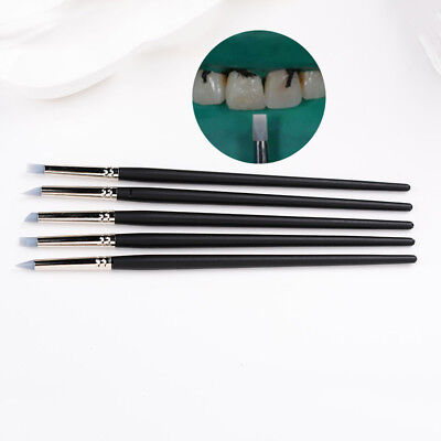 5pcs Dental Porcelain Tooth Silicone Pen Shaping Composite Resin Cement