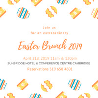 Join us FOR AN EXTRAORDINARY EASTER BRUNCH!