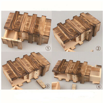 Magische Box Gravur Holz Kiste Geheimfach Versteck Geocache Geocaching WOO VFP