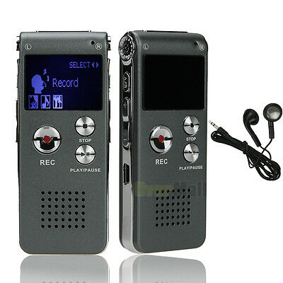 New 8GB Digital Voice Recorder 650Hr Dictaphone W/LCD Screen CL-R30 Silver&Gray
