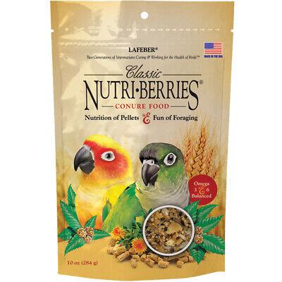 LAFEBER'S Classic Nutri Berries CONURE Food Bird 10 oz