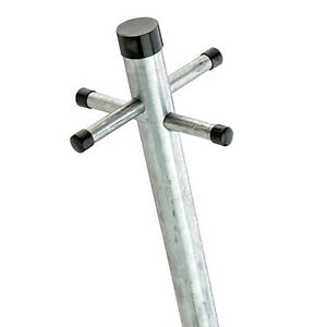 Galvanised Washing Clothes Post Pole Line Dryer 2.4M