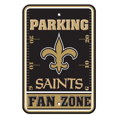 NFL New Orleans Saints Home Room Office Bar Decor Parking Sign Fan Zone - New Orleans Saints Decor