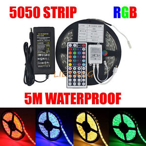Waterproof Color Changing LED Lights Strip Package 5050smd NEW