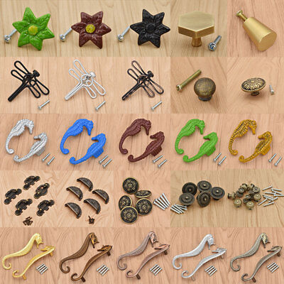 Modern Retro Seahorse Butterfly Knob Cabinet Alloy Drawer Dresser Pull - Butterfly Drawer Pull Knob
