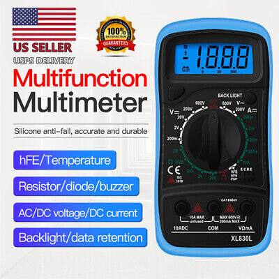 Digital Multimeter Measures Voltage Tester Current Resistance Continuity