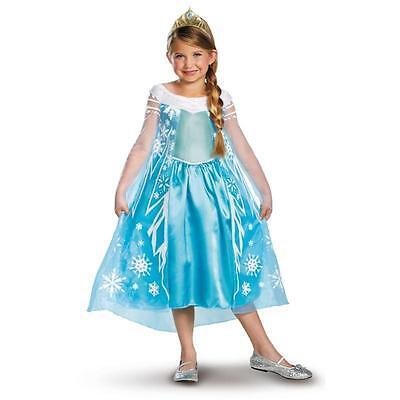 Kostüm Frozen  116/122 Karneval Fasching Mädchen Disney Pixar Elsa - Disney Elsa Deluxe Kostüm