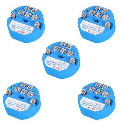 5pcs 4-20ma 0300 Rtd Pt100 Sbw Temperature Sensor Transmitter Isolated Sensors