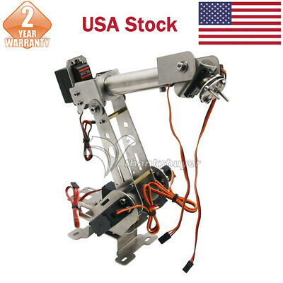 6dof Mechanical Robotic Arm Clampservos Diy Kit For Arduino Robot Smart Car Us