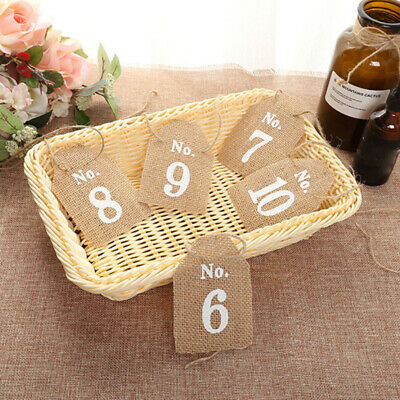 Rustic 1-10 Burlap Table Numbers Table Centerpiece for Wedding or Home](Rustic Centerpieces For Weddings)