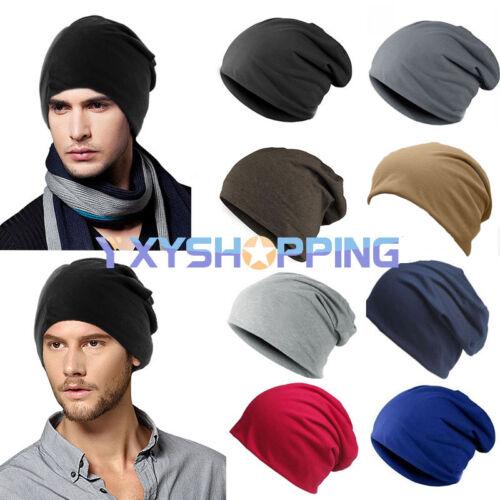 Herren Sports Jerseybeanie Slouch Freizeit Hüte Beanie Elastisch Skimütze Mützen