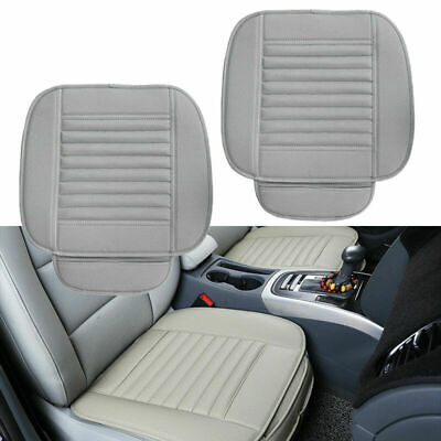 2x Universal Gray PU Leather Car Seat Cover Driver Front Cushion w/ Storage Bag Volvo S40 Car Driver