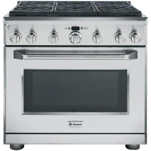 "Monogram ZGP366NRSS 36"" Gas Range, Self Clean, Convection, 6 Bur"