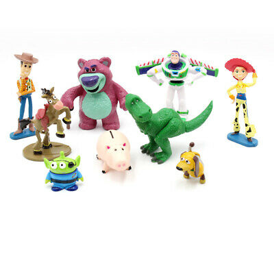 Toy Story Woody Buzz Lightyear Jessie Potato Head 9 PCS Figures Toys Cake Topper - Woody Toy Story Jessie