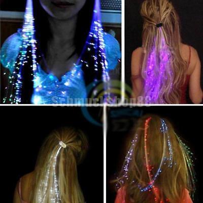 leuchten Haar Klipp Verlängerungs LED Kostüm blinkende zufällige Farbe