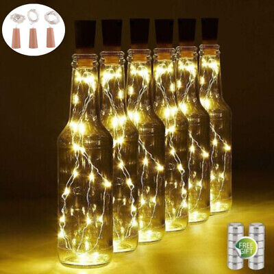 Wine Bottle Cork Lights Copper Led Light Strips Rope Lamp Kit DIY for -