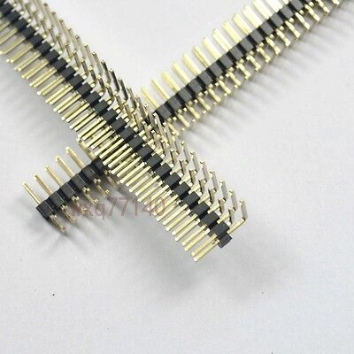 10pcs Rohs 2.0mm 2x40 Pin Header Double Row Right Angle 80 Pin For Dip Pcb Board