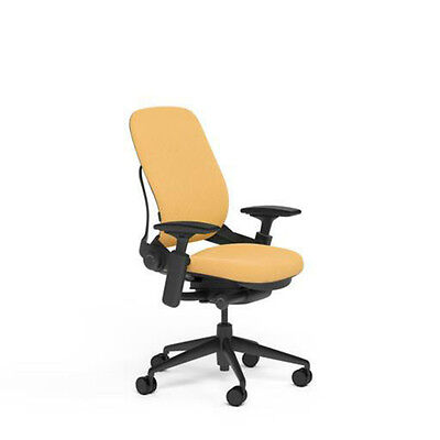 New Large Steelcase Leap Plus Adjustable Desk Chair Buzz2 Sunrise Fabric 500 Lb