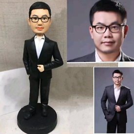 Custom Handmade Your 3D Minime Art Doll black suits gentlemen