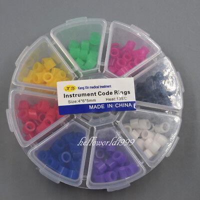 160 Pcs Dental Silicone Instrument Code Rings Autoclavable 135c 8 Color