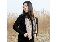 DAYMISFURRY--Knit Rex Rabbit Fur Scarf By Handmade