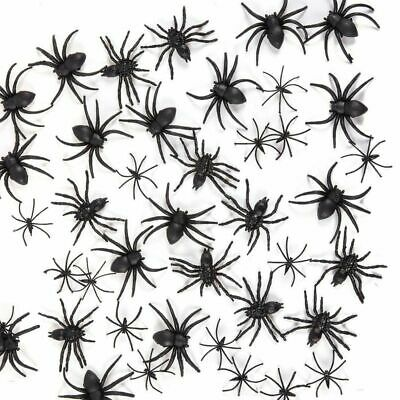 Scary Spiders For Halloween (102-Pack Assorted Plastic Spiders for Scary Halloween Party decoration, 3)