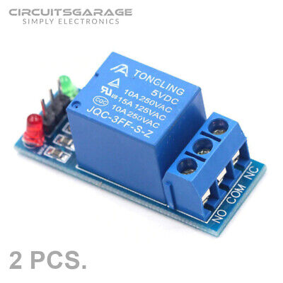 2 X 1-channel 5vdc Optocoupler Relay Switch Module Board For Arduino Raspberry