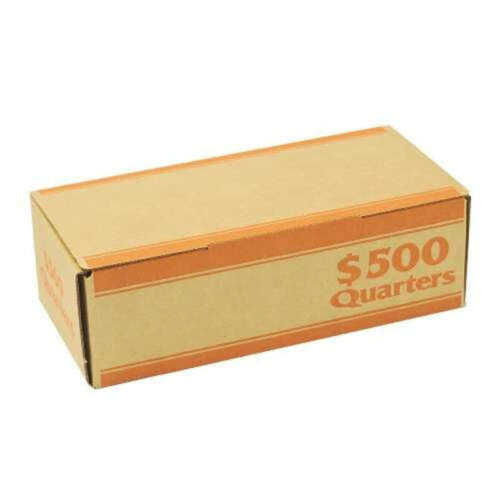 Quarter Orange Coin Roll Storage Box by MMF