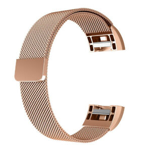 Replacement Bands for Fitbit Charge 2,  Stainless Steel -Gold