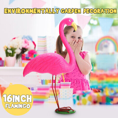 Pink Flamingo Ornament Garden Resin Statues Outdoor Lawn Yard Light Decor Gift
