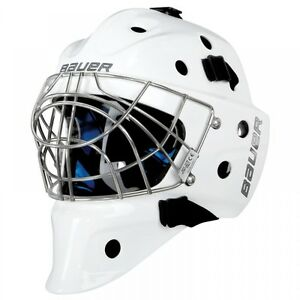 """Bauer NME 8 Adult size 1 Goalie mask with """"CATS EYES"""""""